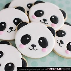 Panda Face / Animal Face Cookie Cutter for Sugar Cookies, Fondant, Clay or Dough from TroubleBaker on Etsy Studio Kawaii Cookies, Bear Cookies, Iced Cookies, Cupcake Cookies, Cookie Favors, Panda Cupcakes, Panda Themed Party, Panda Party, Panda Kawaii