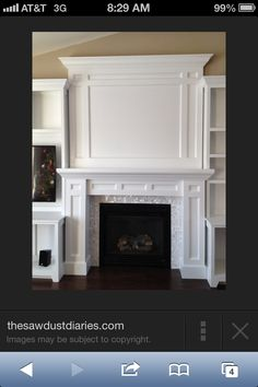 Most Simple Tricks: Tv Over Fireplace Dimensions brick fireplace tv mount.Fireplace Built Ins Pictures installing fireplace insert.Traditional Fireplace With Built Ins. Tv Over Fireplace, Fireplace Redo, Fireplace Bookshelves, Fireplace Built Ins, Fireplace Remodel, Fireplace Surrounds, Fireplace Design, Craftsman Fireplace, Fireplace Molding