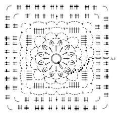 """Stony Ridge - Crochet DROPS jacket worked in a square in """"Cloud"""". Size S-XXXL. - Free pattern by DROPS Design"""