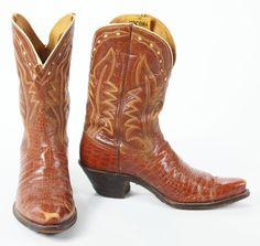 Vtg 50s 60s Nocona Pee Wee Shorty Square Toe Cowboy Western Boots USA Made Men 8 #Nocona #CowboyWestern