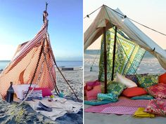 The only thing better than a fort in your living room...a fort on the beach