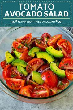 Tomato Avocado Salad Recipe | Avocado Salad | Tomato Salad #salad #tomato #avocado #glutenfree #cleaneating #dinner #dinneratthezoo #healthy Spinach Salad Recipes, Best Salad Recipes, Asparagus Recipe, Chicken Salad Recipes, Avocado Recipes, Pasta Recipes, Dinner Recipes, Healthy Recipes, Asparagus Salad