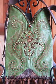 Pistachio Green Cowboy Boot Purse by GriffinsCloset on Etsy,