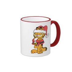 Santa Garfield. Regalos, Gifts. Producto disponible en tienda Zazzle. Tazón, desayuno, té, café. Product available in Zazzle store. Bowl, breakfast, tea, coffee. #taza #mug