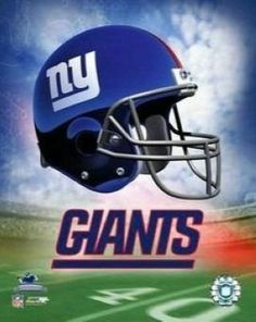 GIANTS FOOTBALL Team LOGOS | New York Giants NFL 8x10 Photograph Team Logo and Football Helmet ...