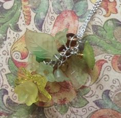 Green Summer Flower Necklace £8.50