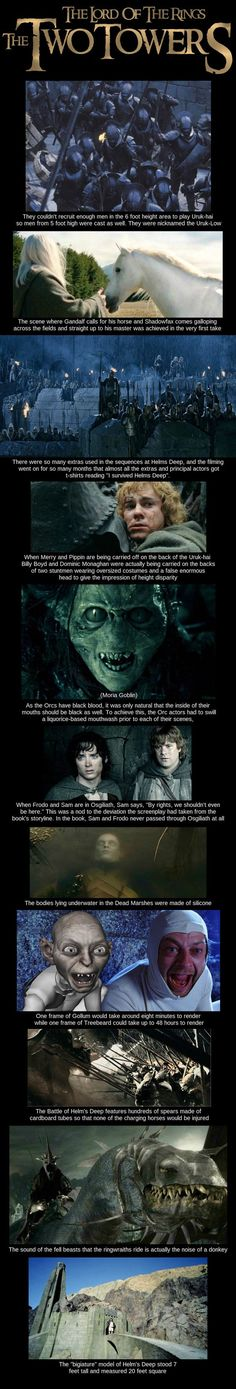 'The Two Towers' behind the scenes facts.