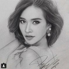 Amazing sketch of Ploy Cherman <3  #annethong