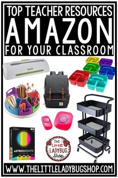 Amazon Teacher Must Have Resources for the Classroom. Amazon has all your needs for class decor, classroom management, and so much more! #amazonteachermusthaves #amazonteacherfavorites