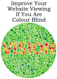 Improve Your Website Viewing if you are Colour (Color) Blind http://www.ebay.co.uk/sch/m.html?_odkw=&_osacat=0&_ssn=robs_rare_recordings&_trksid=p2046732.m570.l1313.TR0.TRC0&_nkw=website+viewing&_sacat=0&_from=R40