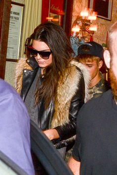 September 30: Justin and Kendall Jenner dine together in Paris, France.