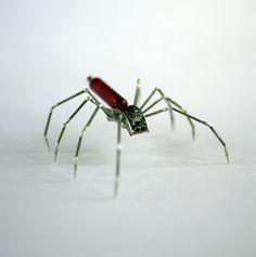 Mechanical Spider Sculpture No 19 Recycled Watch Parts Clockwork Arachnid Bug Insect Figurine Stems Lightbulb Arthropod A Mechanical Mind. $220.00, via Etsy.