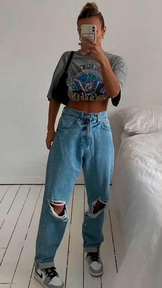 Swaggy Outfits, Tomboy Outfits, Tomboy Fashion, Teen Fashion Outfits, Retro Outfits, Cute Casual Outfits, Look Fashion, Streetwear Fashion, Party Outfits
