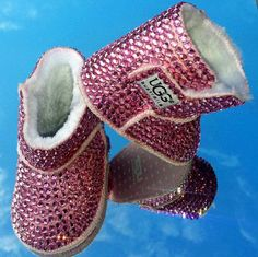 Bedazzled Bling Baby Shoes Pink boots by SavvyBabyShoes on Etsy Bling Baby Shoes, Cute Baby Shoes, Baby Bling, Baby Girl Shoes, Kid Shoes, Bling Bling, Camo Baby, Pink Boots, Fur Boots