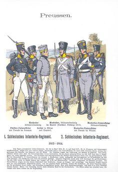 Band XV #43.- Preußen. 1. und 2. Schlesisches Infanterie-Regiment. 1812-1814.