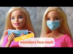 How To Make Miniature Face Mask For Dolls(DIY Disposable Masks) Today, I will show you how to make miniature disposable masks for barbie doll or other dolls . Barbie Dolls Diy, Diy Barbie Clothes, Barbie Clothes Patterns, Barbie Doll House, Barbie Life, Barbie Barbie, Diy Doll Mask, Diy Mask, Diy Face Mask