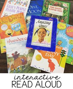 Interactive read aloud lessons have completely changed my Reader's Workshop in first grade. These planned, and purposeful lessons let students read closely First Grade Reading, First Grade Classroom, Student Reading, Kindergarten Reading, Teaching Reading, Teaching Ideas, Early Reading, Guided Reading, Teaching Resources
