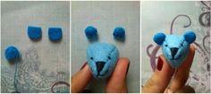 Felt bear head to make bear coasters?