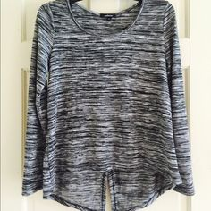 ⭐️NEW GREY & Black Shirt⭐️ New never used . Size medium . Long sleeve nice smooth material has a nice opening in the back of the shirt as seen in photos. ⭐️NEW NEVER used.⭐️ Ambiance Apparel Tops