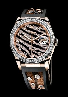 ♛ Zebra print Rolex from the Oyster Perpetual collection ♛