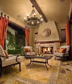 Cozy up on a glam-patio with outdoors chandeliers. WE can help! #lightsandmore #tampa #sanjuan www.lightsandmore.com #chandeliers #lighting #homedecor #design