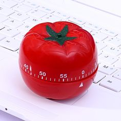 Kitchen Timers Tomato Shape 1-60min Cooking Clock  Mechanical Countdown Timer E0