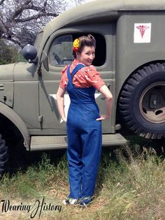 I'm happen to announce the latest pattern addition to Wearing History, which is now available for Pre-Order! A perfect addition to your 1940s wardrobe, these WWII Home Front Overalls, Playsui…