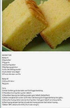 Cake Recipes, Snack Recipes, Dessert Recipes, Desserts, Pastry Recipes, Resepi Butter Cake, Bolu Cake, Butter Pound Cake, Cake Oven