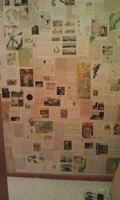 Coffee, Crafts & Cornfields: Book pages wallpaper--Make one for in the News!!