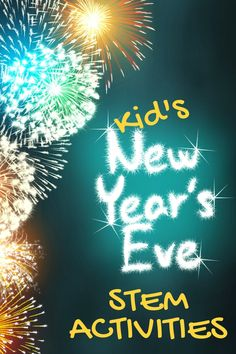 Over 50 fun science experiments and STEM activities for preschoolers to elementary! Simple science activities you can do at home or in the classroom. New Year's Eve Activities, Holiday Activities, Stem Activities, Learning Activities, Kids New Years Eve, New Years Eve Games, New Year's Eve Crafts, Kids Crafts, New Year's Games