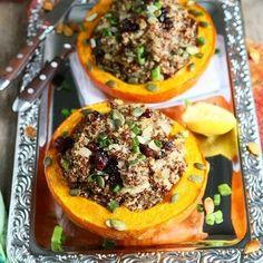 Quinoa gefüllter Hokkaido Kürbis lecker, schnell und einfach zubereitet