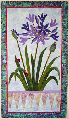Agapanthus quilt pattern by Mary Transom - Quilt Artist (New Zealand)
