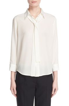 MARC JACOBS Tie Neck Silk Blouse. #marcjacobs #cloth #