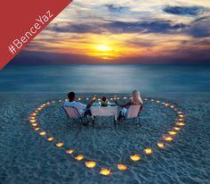 #BenceYaz deniz kıyısında romantik bir akşam geçirmektir.