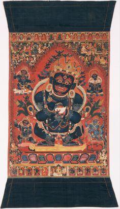 Mahakala, Buddhist guardian. Thangka