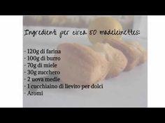 Ricetta madeleines - Madeleines recipe - YouTube