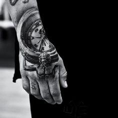 Compass hand tattoo - 60 Eye-Catching Tattoos on Hand