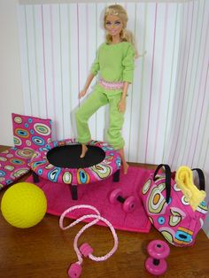 "Barbie Furniture - Trampoline and Work-Out Accessories - ""The Abigail Collection"" DONE"
