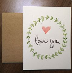 Let that special someone in your world know how you feel with this sweet and loving card.