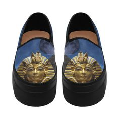 King Tut and Pyramid Selene Deep Mouth Women Shoes (Model 311)