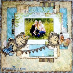 Cut out stamped images and used them as embellishments! @Romy Veul #bobunny #scrapbooking