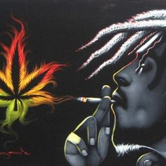 """""""Experience Teaches Wisdom, Theres a Natural Mystic Flowing Through The Air"""" -Bob Marley Cannabis Wallpaper, Weed Wallpaper, Bob Marley Smoking, Rasta Art, Reggae Art, Bob Marley Art, Bob Marley Pictures, Weed Art, Skull Tattoos"""