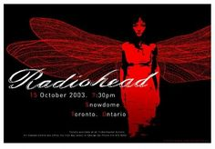 Radiohead Concert Poster By Joe Whyte
