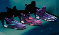 "adidas has taken the wraps off the signature model Damian Lillard is expected to wear at NBA All-Star Weekend in Toronto. The D Lillard 2 ""Aurora Borealis"" edition takes inspiration from Toronto's cosmopolitan culture and upper Canada's Northern Lights. As such, the D Lillard 2's Primeknit woven upper is furnished in purple and pink gradient threads …"