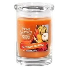 "Yankee Candle Home Classics in ""Autumn Festival"" Fall Candles, Candle Lanterns, Candle Jars, Apple Cinnamon Oatmeal, Cinnamon Apples, Yankee Candle Fall, Yankee Candles, Best Smelling Candles, Simply Home"