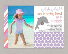 Dolphin Invitation Dolphin Birthday by thepaperblossomshop on Etsy