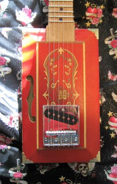 Six String Hand Crafted Killer Sound Cigar Box Guitar by audrybriere on Etsy