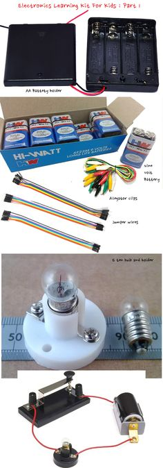 Here is part 1 of electronics learning kit for kids. Our budget is least possible and for China it is possible today to get the stuffs at very cheap price.