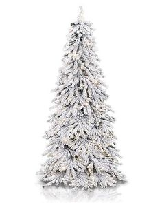 Snowy Spruce Flocked Artificial Christmas Tree | Treetopia