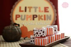 Hostess with the Mostess® - Little Pumpkin Fall Baby Shower.love some of these ideas.like using Little Pumpkin as the theme! Tea Party Baby Shower, Baby Shower Fall, Fall Baby, Baby Shower Gender Reveal, Baby Shower Themes, Baby Shower Decorations, Shower Ideas, Baby In Pumpkin, Little Pumpkin